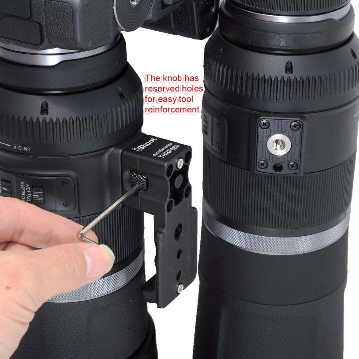 iShoot Lens Collar Replacement Foot Tripod Mount Ring Base Support Stand Compatible with Canon RF 600mm F11 IS STM and Canon RF 800mm F11 IS STM Lens Support Holder with Arca Fit Dovetail