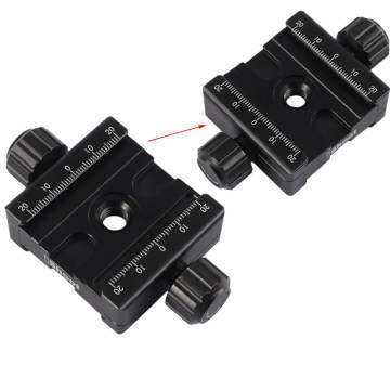 Metal Double-sided Clamp for RRS ARCA-SWISS KIRK Wimberley MARKINS SUNWAYFOTO Camera Tripod Ball Head Quick Release Plate