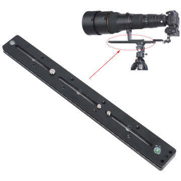 35cm Quick Release Plate QS-350 for Tripod Ball Head / iShoot Double-sided Clamp / Telephoto Lens Support