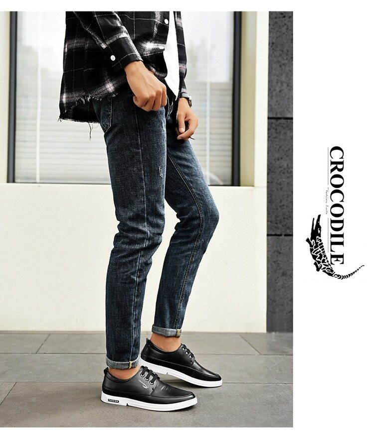 black Height Increasing Leather Loafers