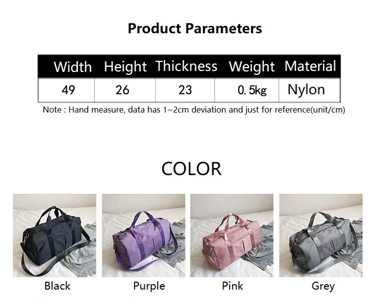 Preferential Fitness Bags With Shoes Pocket