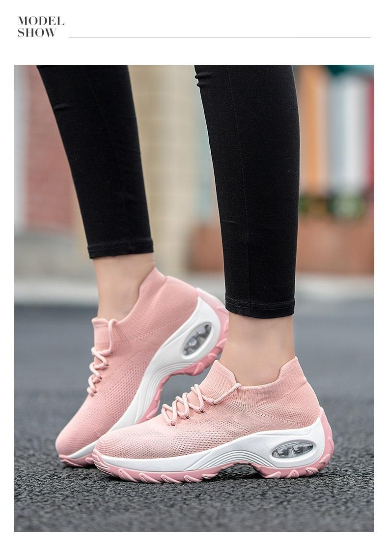 Light Fabric Mesh Jogging Running Shoes