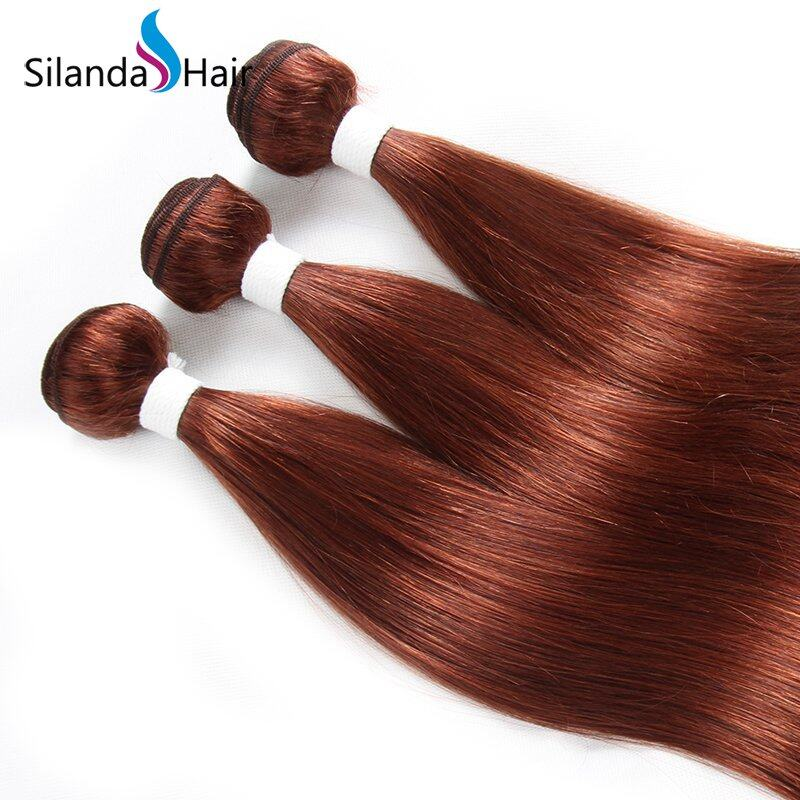 #33 Straight Remy Human Hair Weaving Bundles With Lace Frontal 13X4 JXCT-223