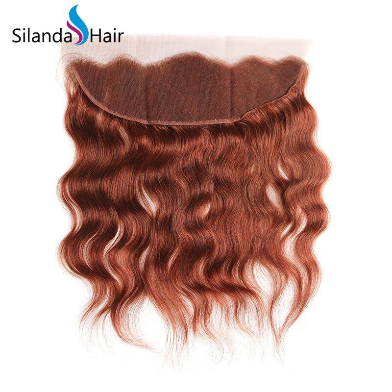 #33 Natural Wave Remy Human Hair Weaving Bundles With Lace Frontal 13X4 JXCT-28