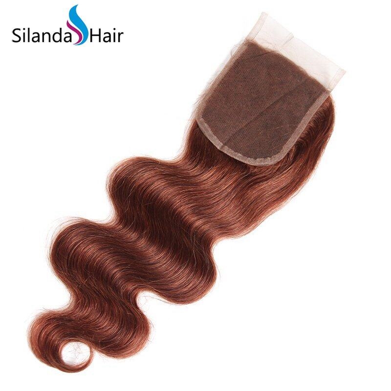 #33 Body Wave Weft With Closure Remy Human Hair 3 Bundles