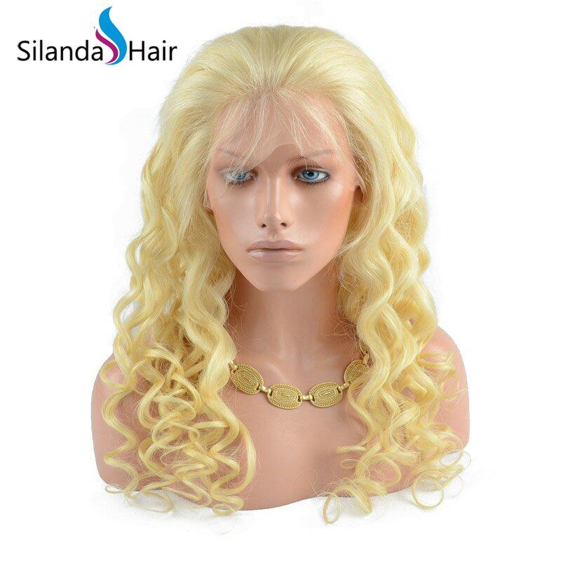 Silanda Hair Nice Affordable #613 Loose Wave Brazilian Remy Human Hair Lace Front Full Lace Wigs