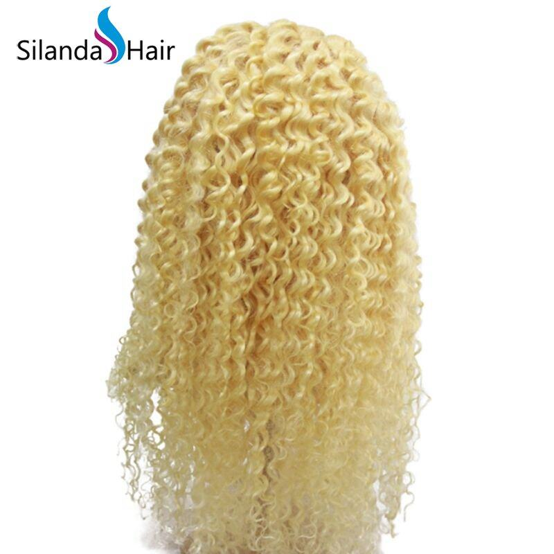 Silanda Hair 100 Percent #613 Kinky Curly Brazilian Remy Human Hair Lace Front Full Lace Wigs