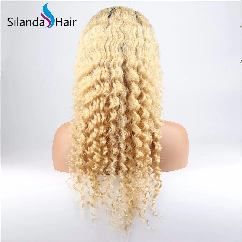 Silanda Hair Best Sale #T 1B/613 Deep Wave Remy HUman Hair Lace Front Full Lace Wigs