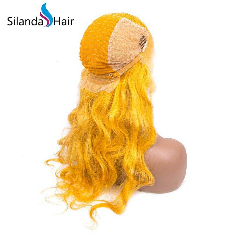 Silanda Hair Fashion Style Yellow Body Wave Brazilian Remy Human Hair Lace Front Full Lace Wigs