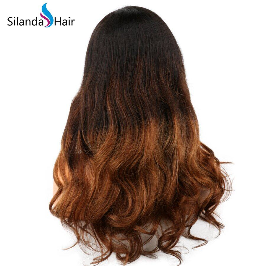 Silanda Hair Top Quality #T 1B/4/30 Body Wave Brazilian Remy Human Hair Lace Front Full Lace Wigs