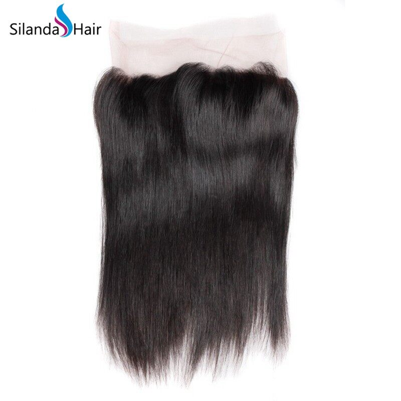 Silanda Hair Good Quality Natural Color Straight Human Hair Weave Weft 3 Bundles With 360 Lace Frontal