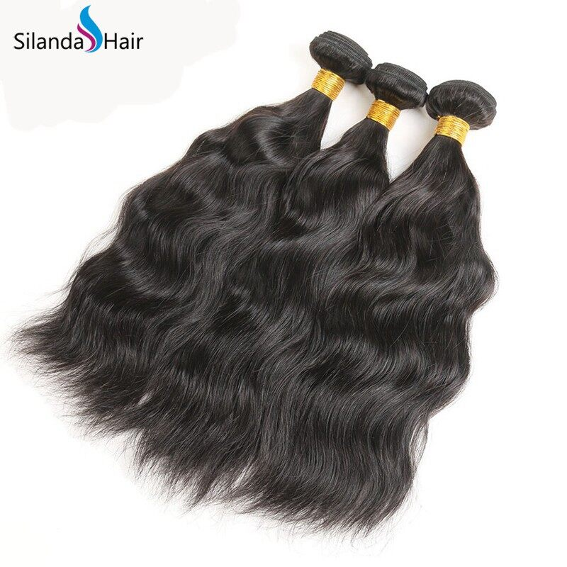Silanda Natural Color Natural Wave Bundles Weaving Weft For African American Women 3Pcs/Pack