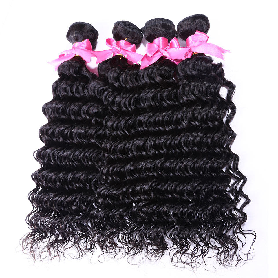 4pc Peruvian Deep Wave Virgin Human Hair Extensions For Sale At