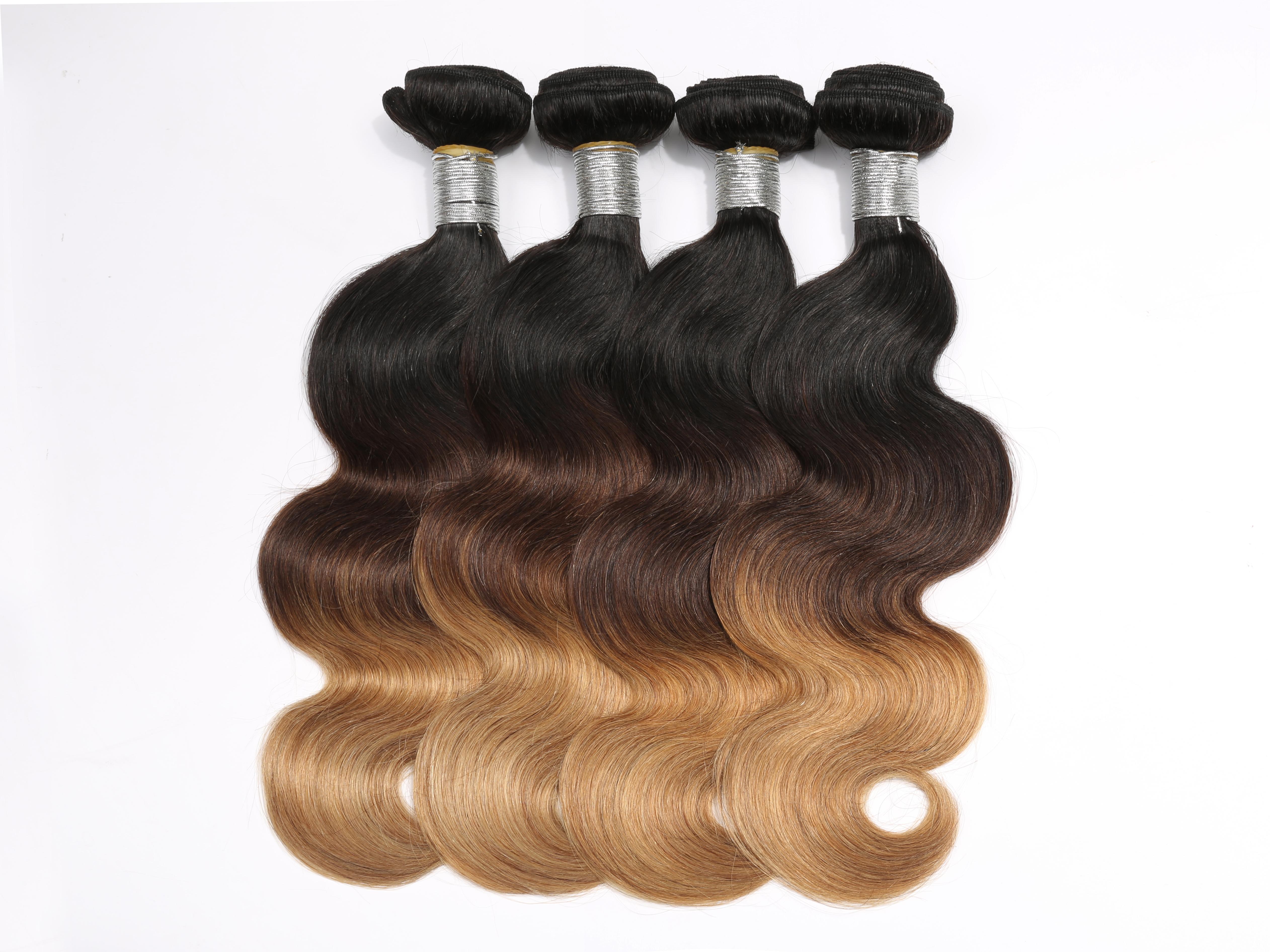 4bundleslot T1b427 Ombre Hair Weave Bundles Body Wave 3 Tone