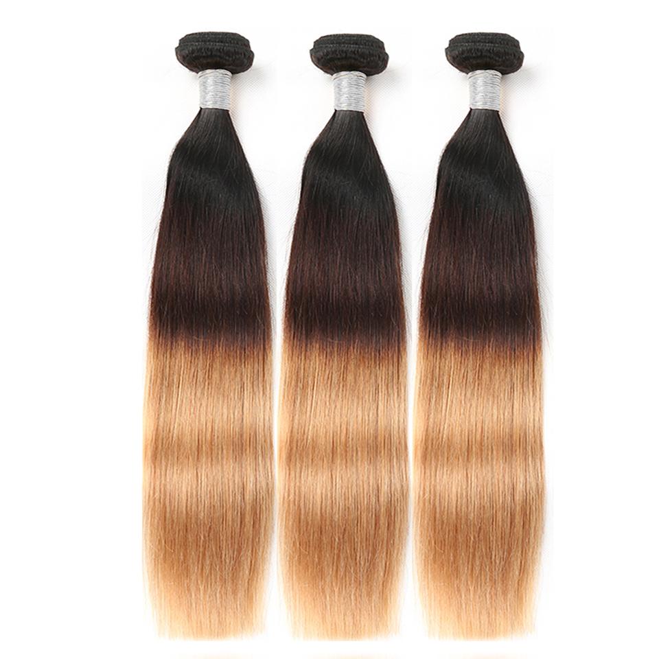 Ombre Straight Hair 3 Tones 1b 4 27 Human Hair Weft 3