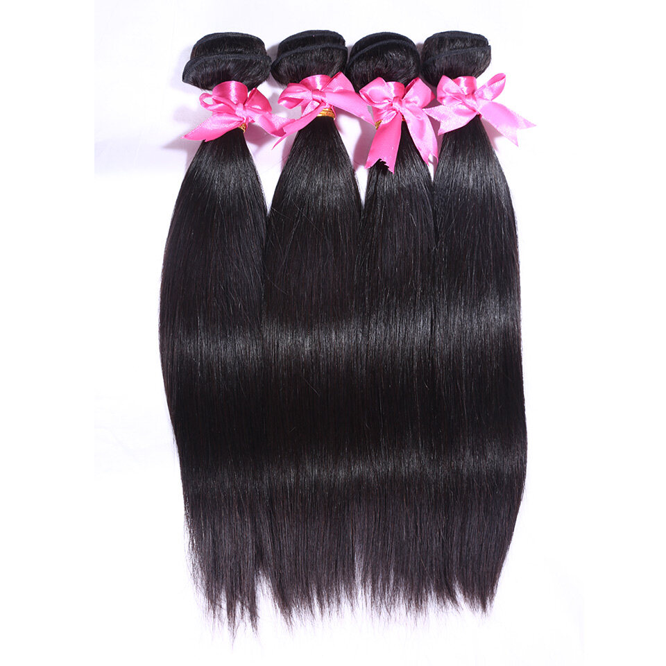 4pcslot Peruvian Straight Virgin Human Hair Extensions For Sale At