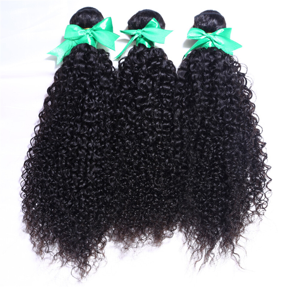 3pc Malaysian Kinky Curly Virign Human Hair Extensions For Sale At