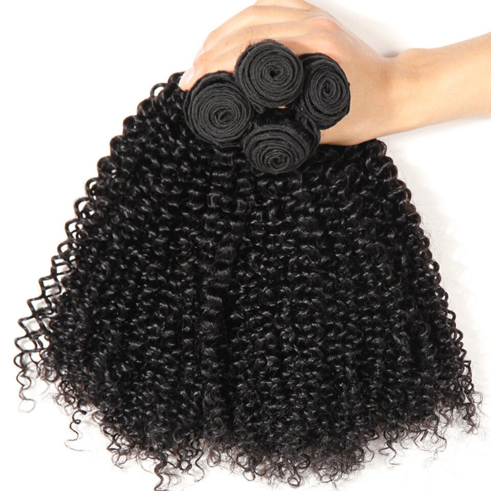 4bundleslot Indian Kinky Curly Virgin Human Hair Extensions For