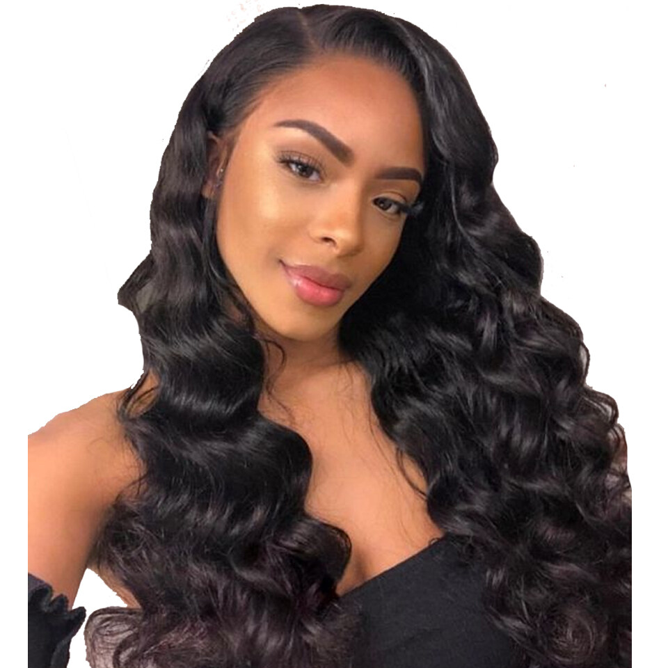 lumiere hair 150 density loose wave lace front wig with