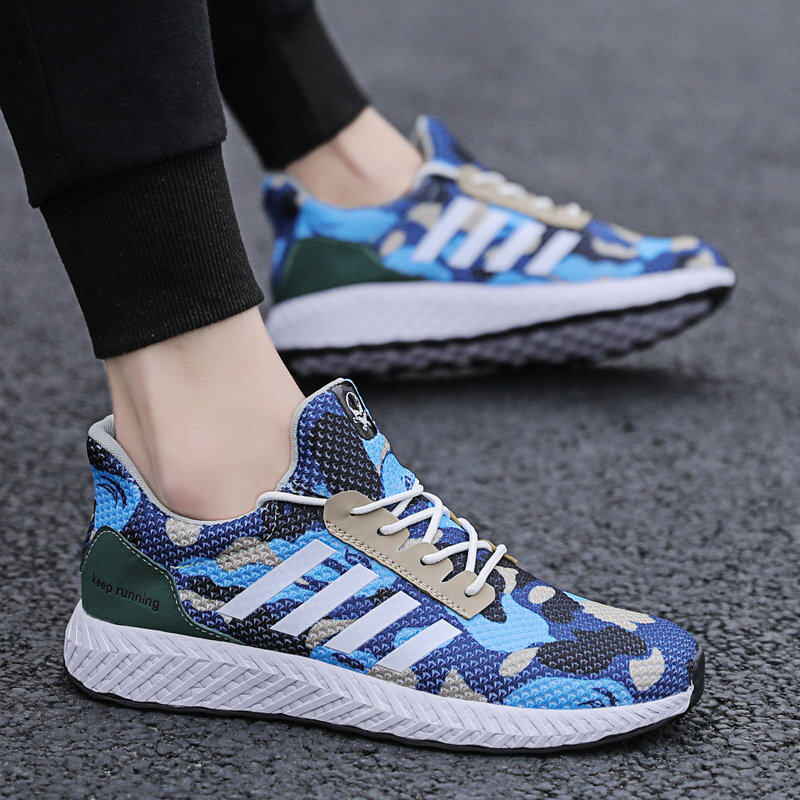 Men's Camouflage Sports Shoes Running Shoes Flyknit Casual Shoes 1