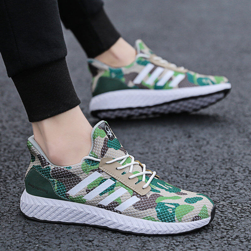 Men's Camouflage Sports Shoes Running Shoes Flyknit Casual Shoes 6