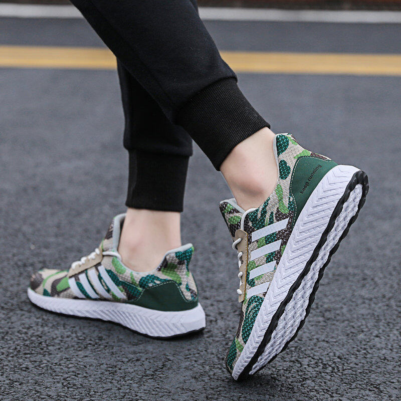 Men's Camouflage Sports Shoes Running Shoes Flyknit Casual Shoes 8