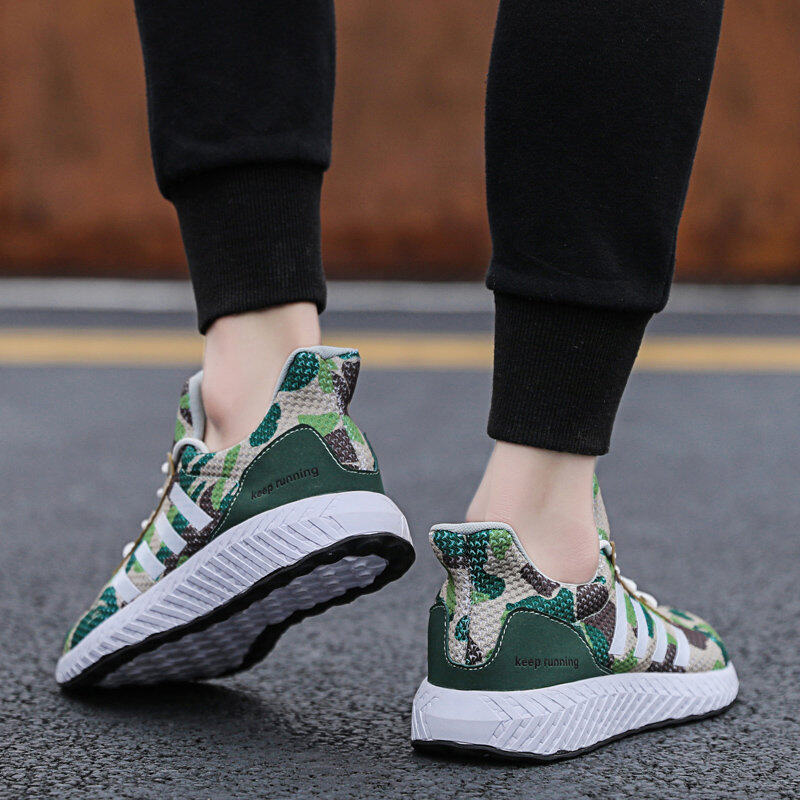 Men's Camouflage Sports Shoes Running Shoes Flyknit Casual Shoes 9