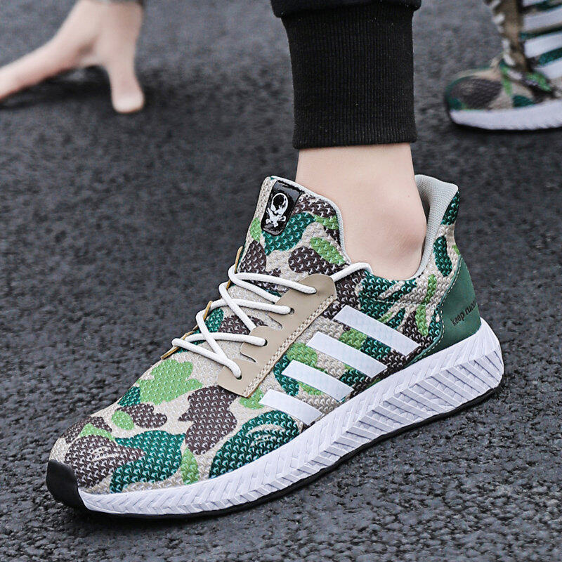 Men's Camouflage Sports Shoes Running Shoes Flyknit Casual Shoes 10