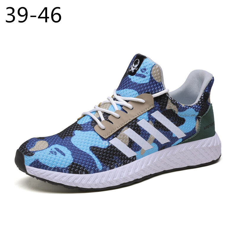Men's Camouflage Sports Shoes Running Shoes Flyknit Casual Shoes 0