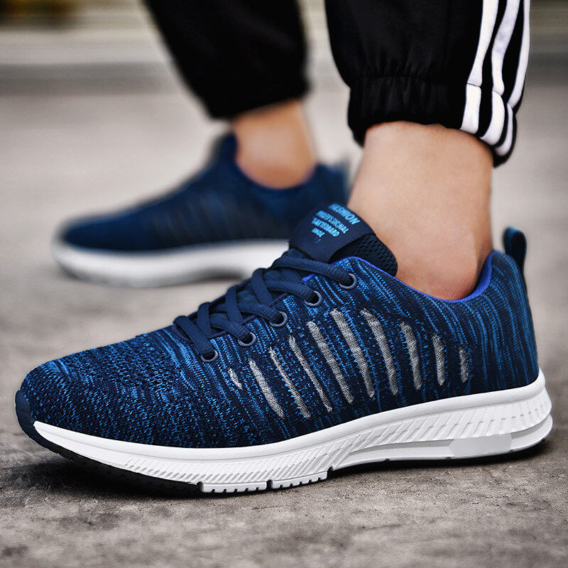 Preferential Flknit Breathable Shoes Mens Casual Sneakers  1