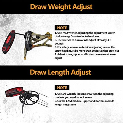"""Compound Bow Package, Archery Adults Hunting Accessories,Right Handed,19-30"""" Draw Length:15-70Lbs Draw Weight,IBO Rate 320fps 3"""