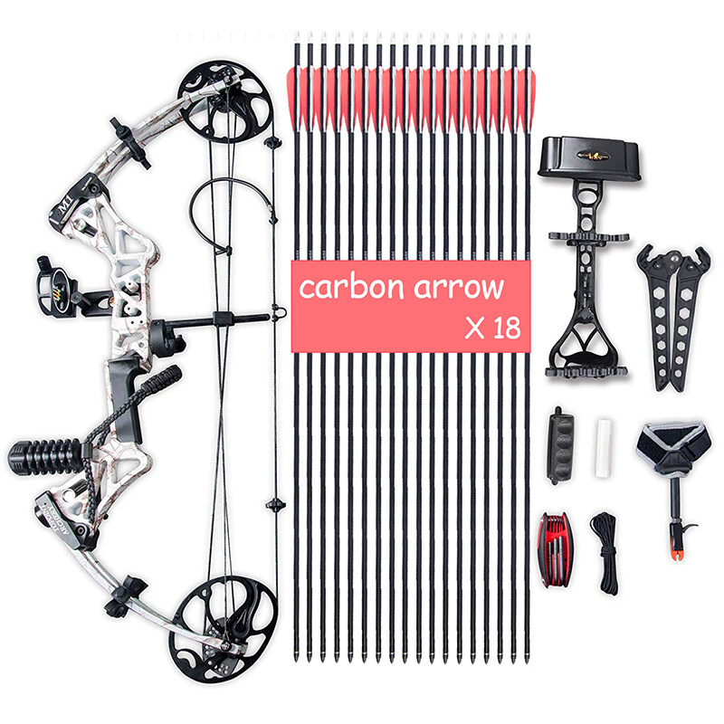 """Compound Bow Package, Archery Adults Hunting Accessories,Right Handed,19-30"""" Draw Length:15-70Lbs Draw Weight,IBO Rate 320fps 0"""