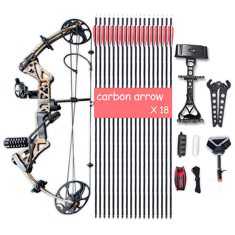 """Compound Bow Package, Archery Adults Hunting Accessories,Right Handed,19-30"""" Draw Length:15-70Lbs Draw Weight,IBO Rate 320fps 6"""