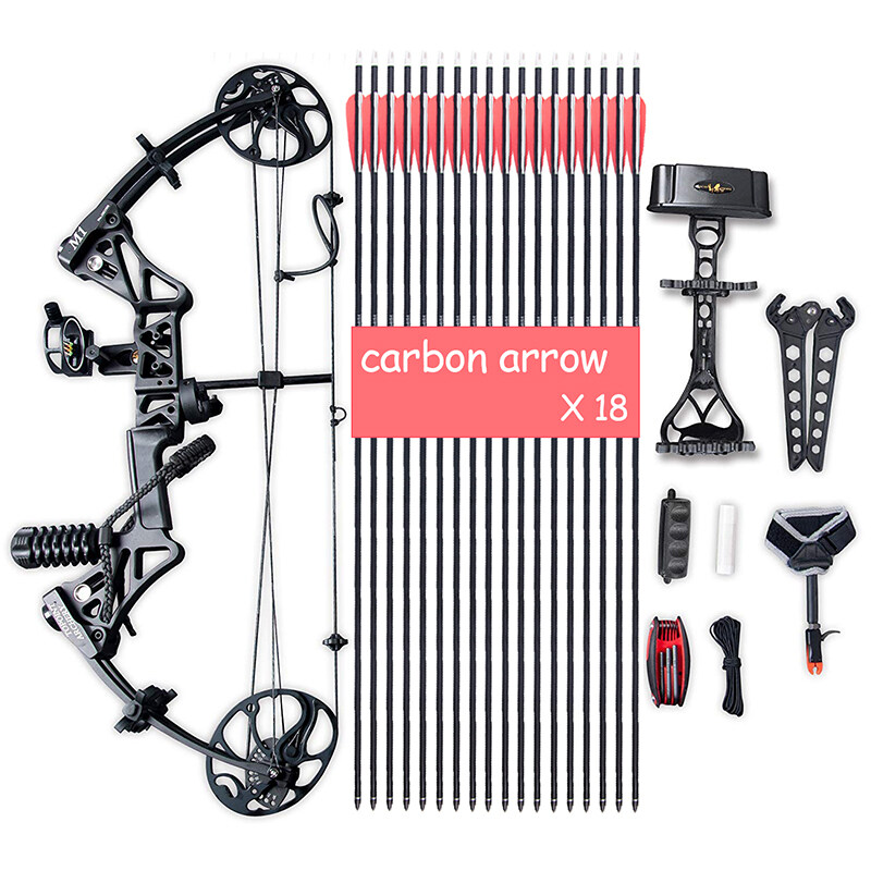 """Compound Bow Package, Archery Adults Hunting Accessories,Right Handed,19-30"""" Draw Length:15-70Lbs Draw Weight,IBO Rate 320fps 7"""