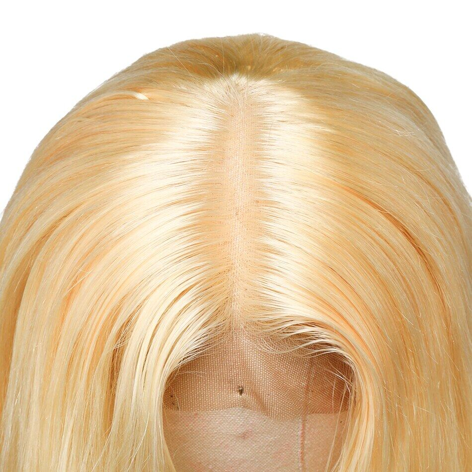 613 Honey Blonde Lace Front Human Hair Wigs Short Bob Wig  Remy Straight Pre Plucked Brazilian Hair Frontal Wig For Black WomenHoney Blonde Lace Front Human Hair Wigs Short Bob Wigs