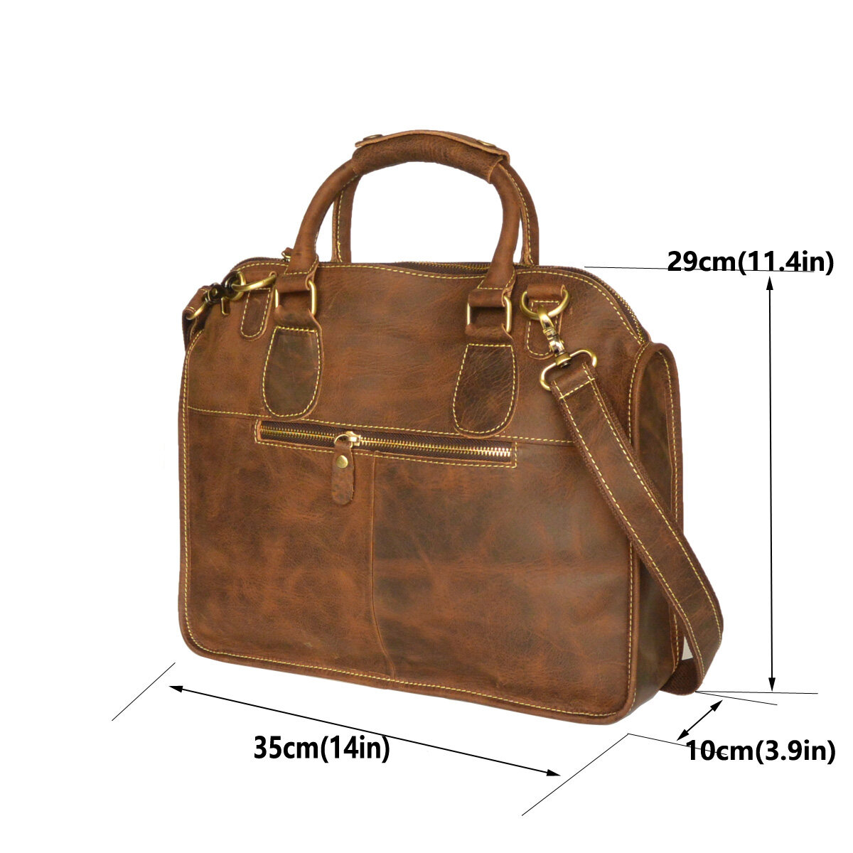 Fit 14 Quot Laptop Bag Men S Retro Vintage Genuine Top Cow