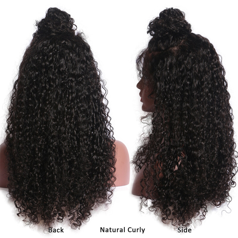 13X6 Deep Part Pre Plucked Curly Lace Frontal Closure With Baby Hair
