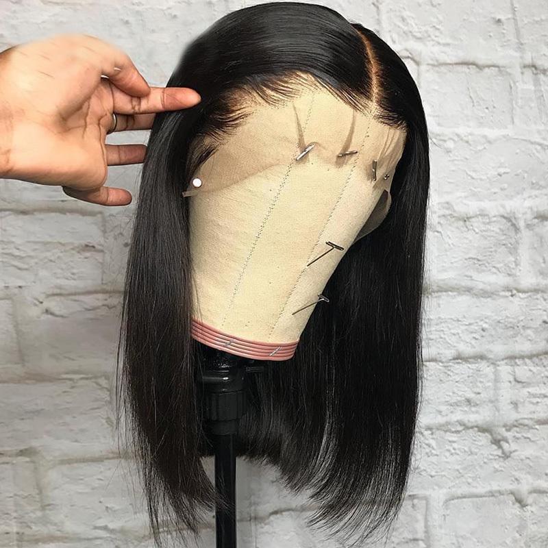 Lace Front Premier Lace Wigs Pre Plucked Brazilian Remy Short Bob Wigs