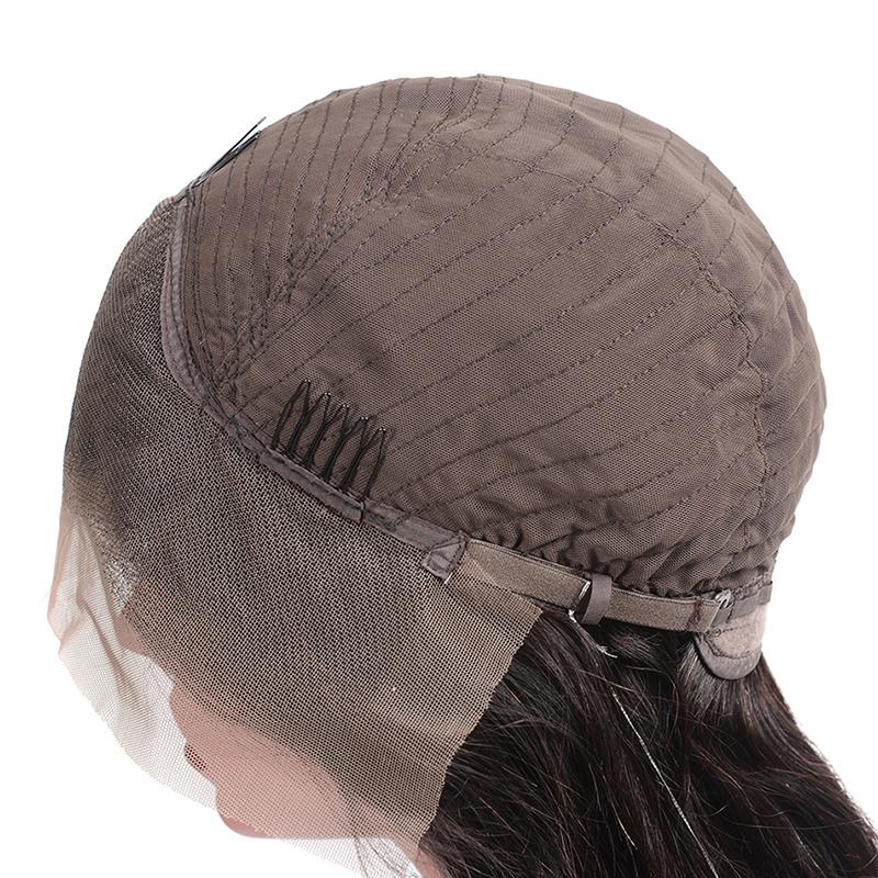 QDBeauty Hair Ombre Colour purple/glue Wavy Long Wigs 13*4 lace front Human Hair Wigs Two Tone