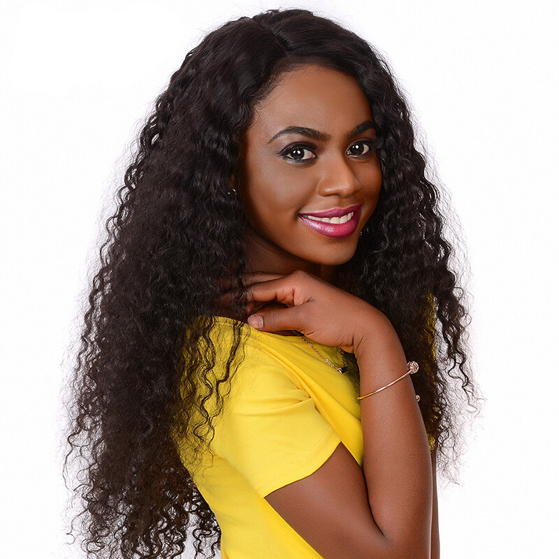 QDBeauty Curly 360 Lace Front Human Hair Wigs For Black Women Pre Plucked Brazilian Lace Wigs