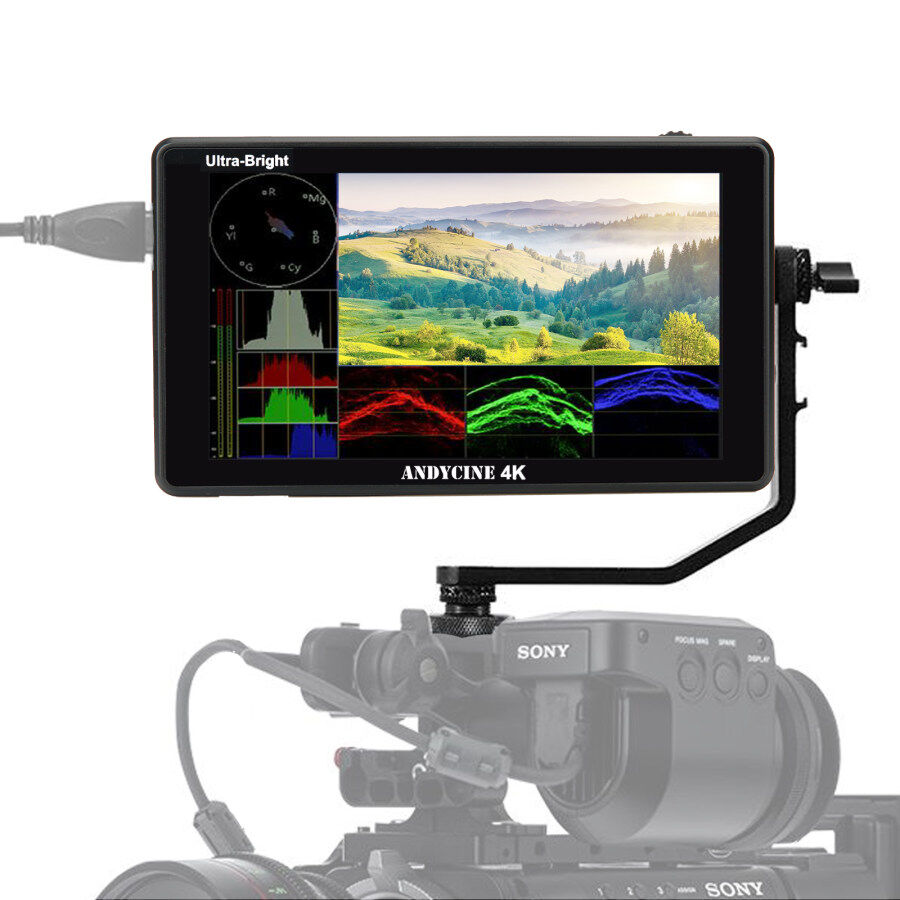 AndyCine C6/C6S 6″ 2600nits Touchscreen 3D LUT Monitor With Waveform Announced