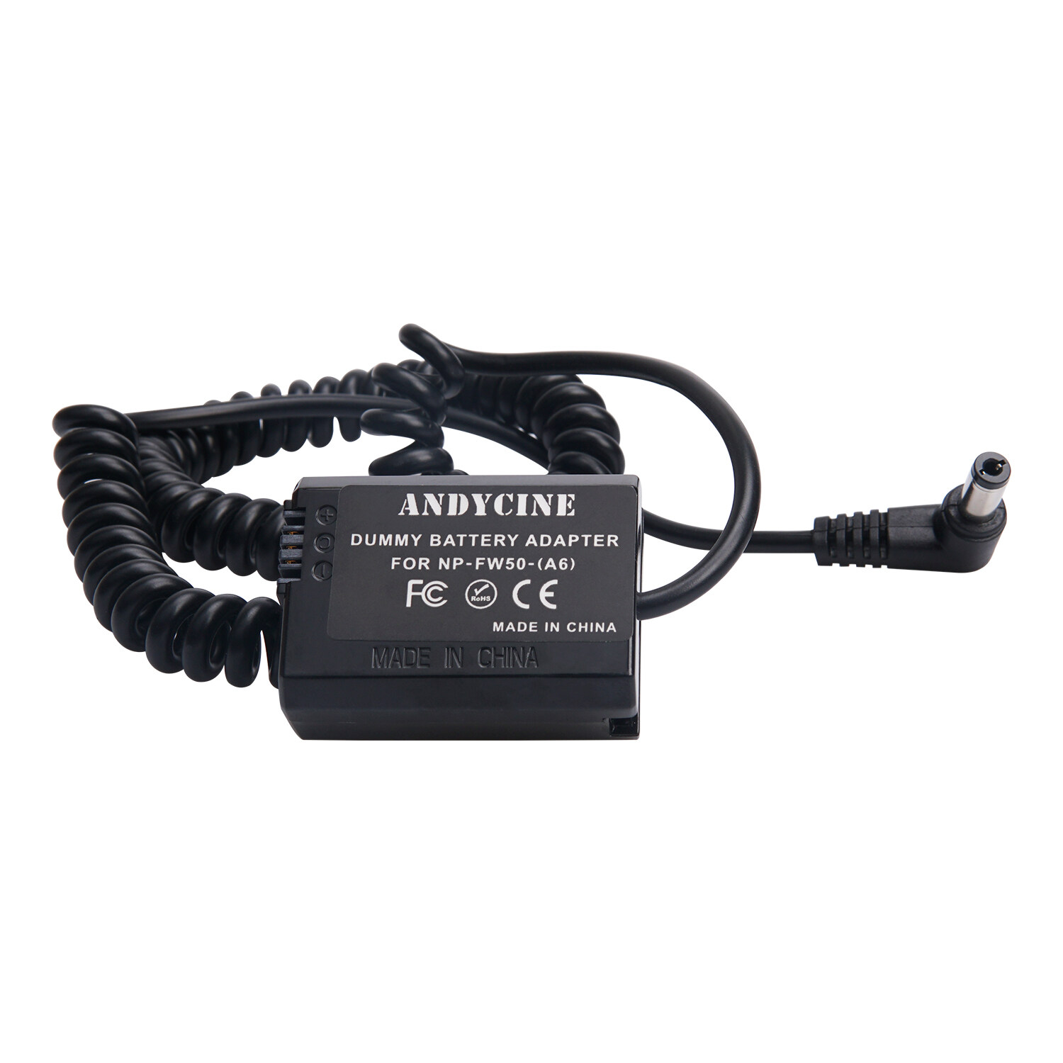 NP-FW50 Dummy Battery DC Coupler AC Power Source PW20 Power Supply Adapter for Sony Alpha A5100 A6500 A6400 A6300 A6100 A6000 A5000 A7 A7II A7RII A7SII A7S A7R A7R2 A7S2 A55 RX10 Cameras