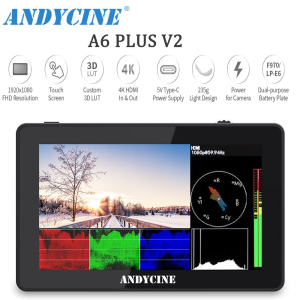 Andycine A6 Plus V2 5.5inch Touchscreen 4K Camera Field Monitor with waveform/vector scope/3D LUT/USB Type-C power