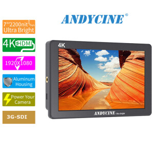 ANDYCINE X7S 7inch Ultra Brightness Screen Camera Field Monitor with HDMI/SDI Rugged CNC Aluminum Housing Monitor