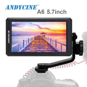 ANDYCINE A6 5.7 Inch HDMI Field Monitor DC 8V Power Output Swivel Arm Monitor for Sony,Nikon,Canon DSLR and Gimbals