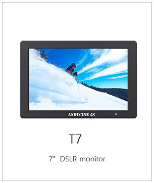 ANDYCINE T7 7 Inch Camera Feild Monitor,Full HD 4K HDMI Aluminum Housing Monitor for DSLR Camera