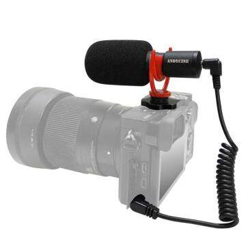 ANDYCINE M1 Camera video microphone mini and lightweight 3.5mm conversion cable microphone for iPhone, Android Smartphones, Canon EOS, Nikon DSLR Cameras and Camcorders