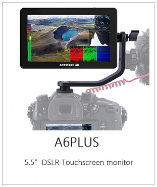 ANDYCINE A6 Plus 5.5inch Touchscreen 4K HDMI Camera Field Monitor with waveform/vector scope/3D LUT