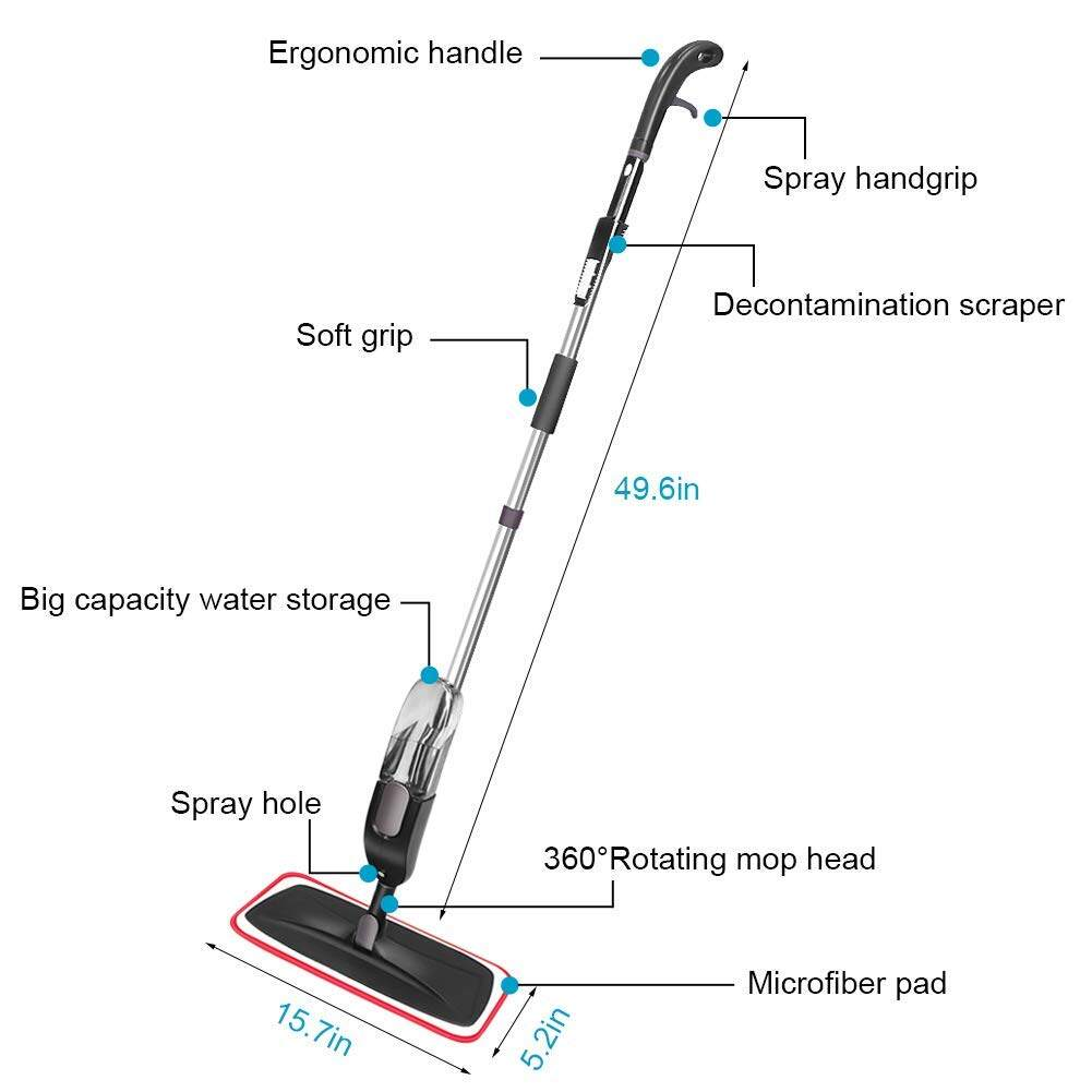 360 Degree Swivel Spray Mop
