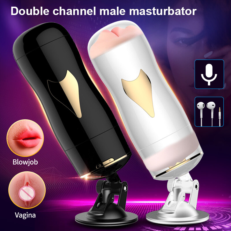 Automatic-Male-Masturbator-Smart-Voice-sex-doll-FDA-Silicone-Double-Vagina-Real-Pussy-Blowjob-Sex-Toys
